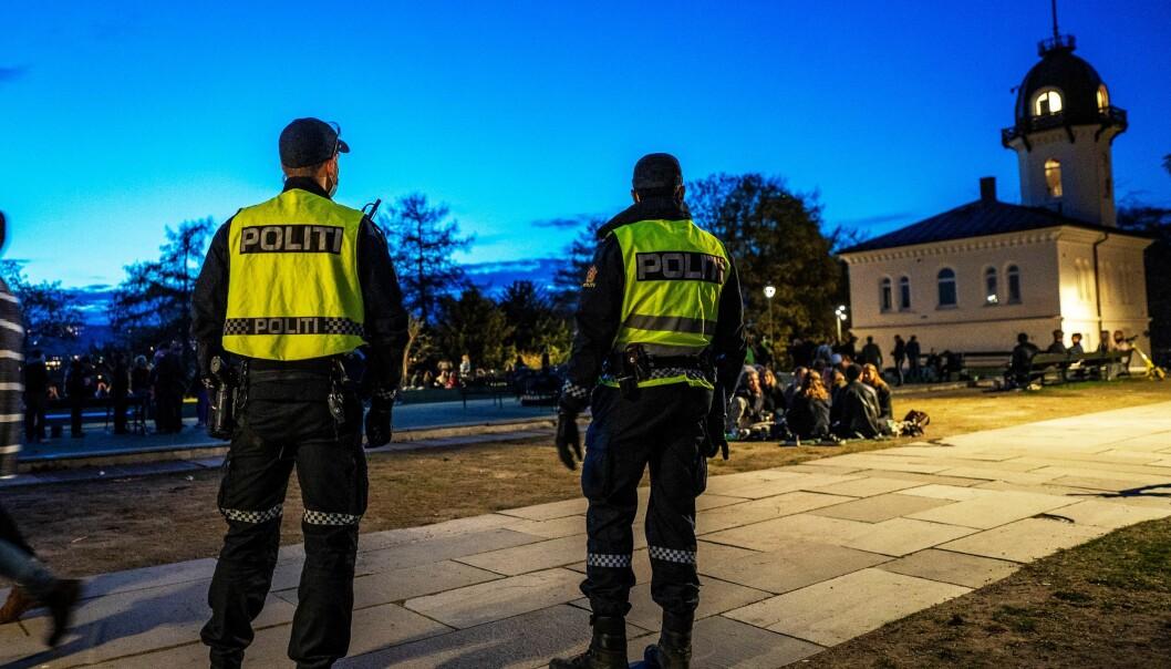 Festing med høy musikk i Oslos parker har vært en gjenganger for politiet i vår og i sommer. Her fra St. Hanshaugen i juni i år.