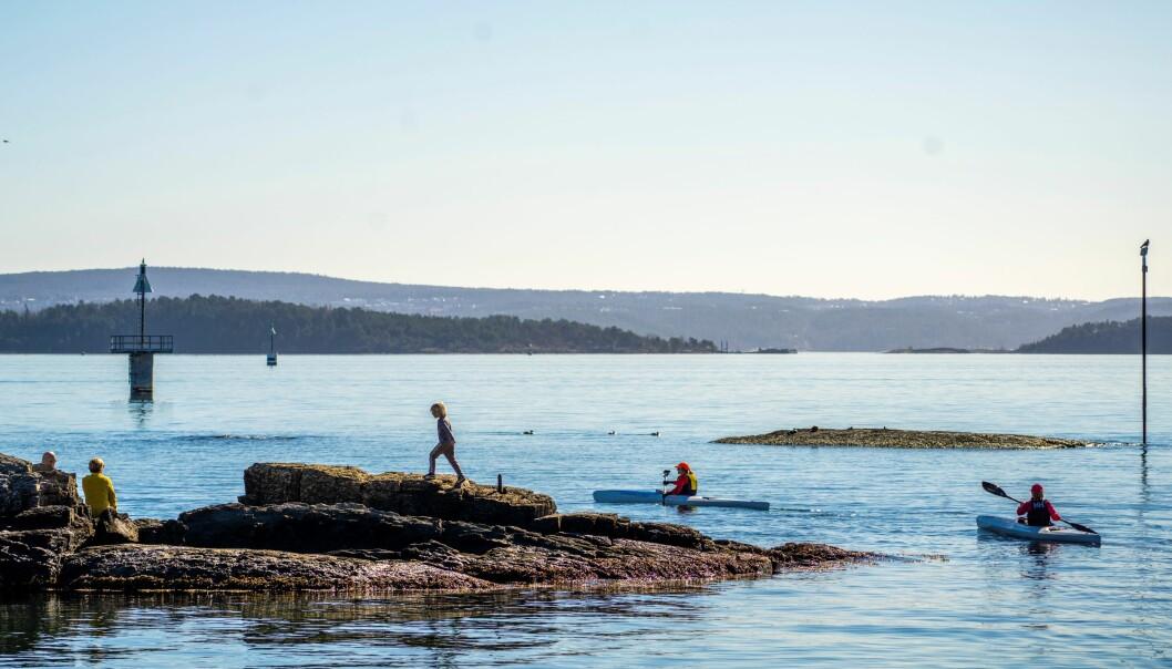 Farvannet utenfor Huk er vanligvis svært trafikkert, både av fritidsbåter, vannscootere, kajakker og yrkestrafikk.