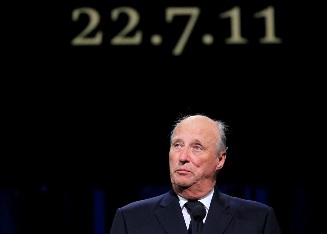 Kongen rørte en hel nasjon under minneseremonien etter terrorhandlingene 22. juli for ti år siden. Torsdag er kong Harald tilbake i Oslo Spektrum og holder en ny minnetale.