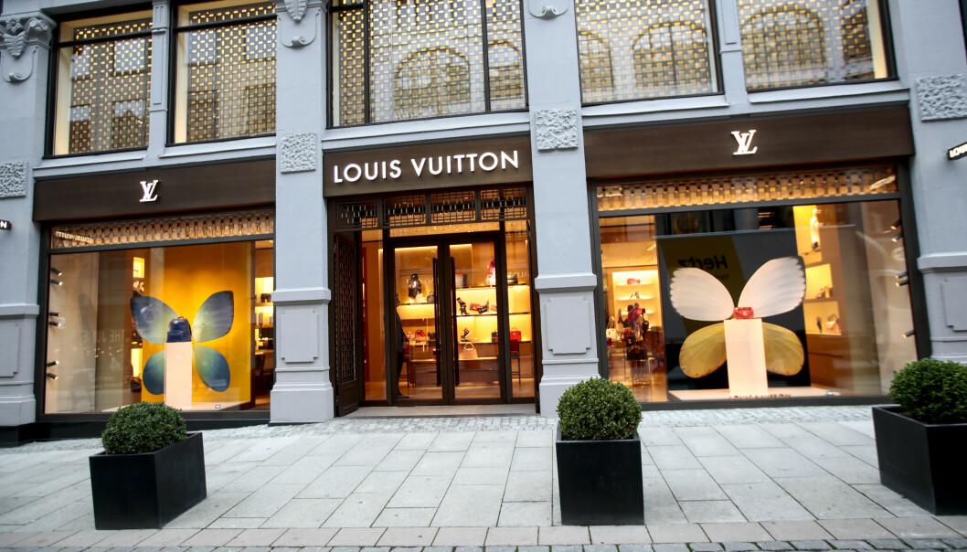 Louis Vuitton i Nedre Slottsgate, som er blitt Oslos mest eksklusive handlestrøk med en rekke kjente butikker for internasjonale luksusmerker.