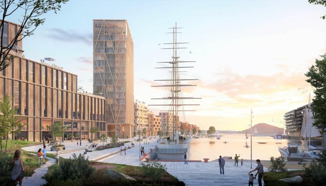 Grønlikaia kan i framtiden få 1.500 leiligheter, næringsarealer og rekreasjonsområder. Kommunen ser flere store utforfringer rundt utbyggers planer.