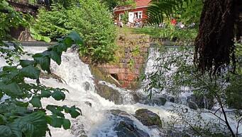 I dag ble vannføringen i Akerselva redusert