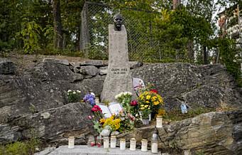 Minnemarkering for Benjamin Hermansen på Holmlia