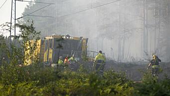 Skogbrann i Nordmarka: — Vi mener å ha kontroll på brannen, sier brann- og redningsetaten