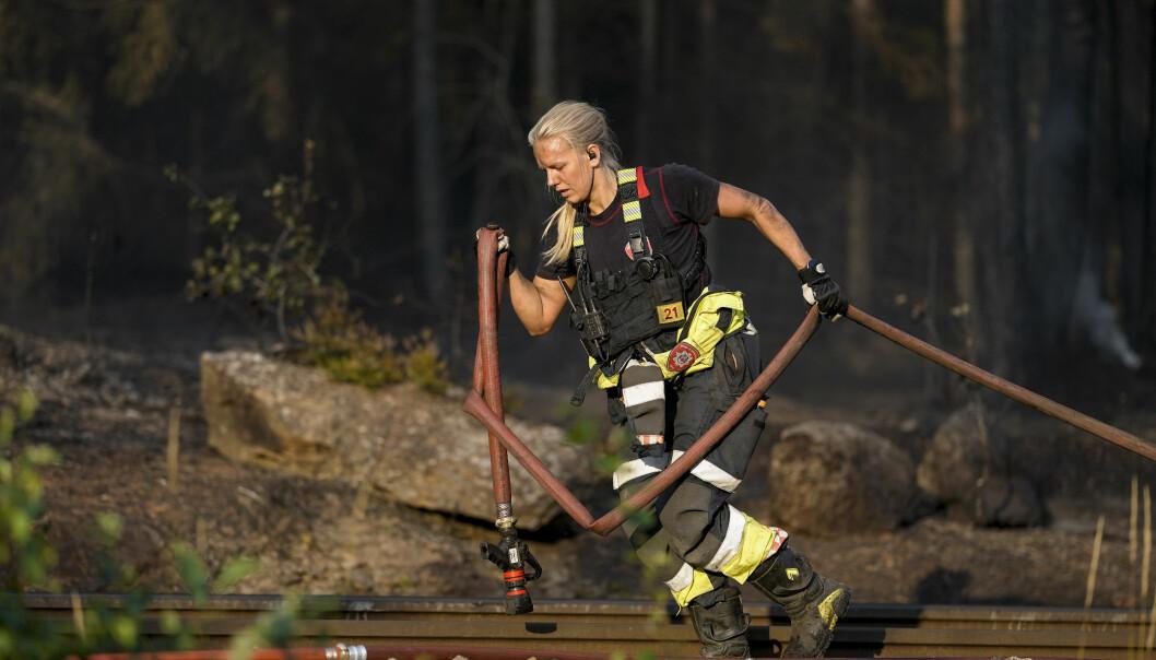 Det brenner i skog og kratt, og det har vært fare for at brannene sprer seg. Foto: Fredrik Hagen / NTB