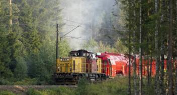 Gjøvikbanen åpnet etter skogbrann i Maridalen