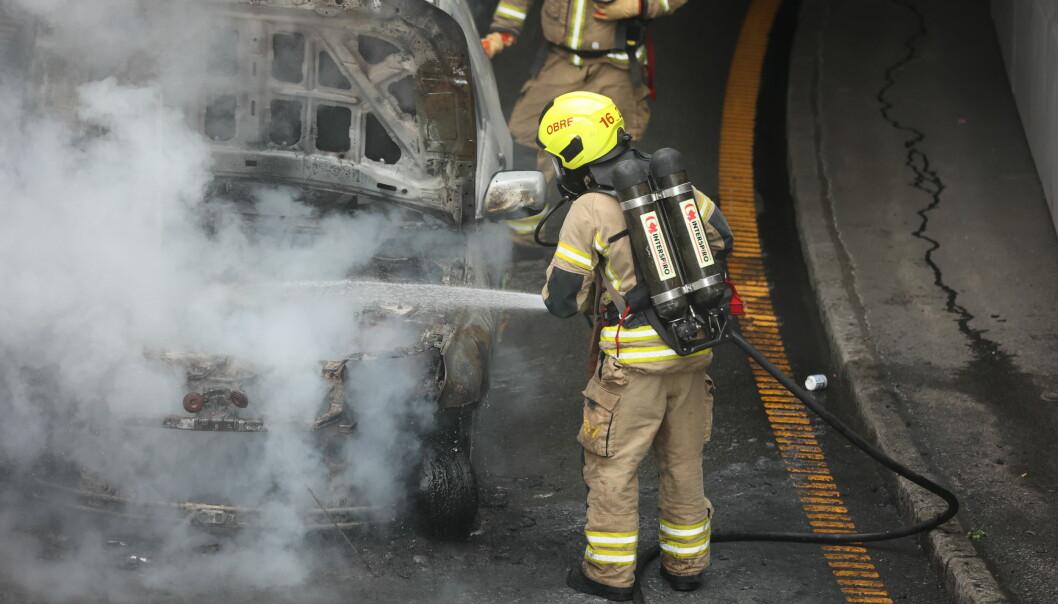 Ingen personer ble skadd i brannen.