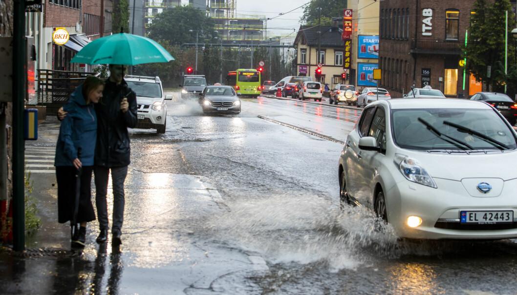 Det er meldt om vått vær, lyn og torden de neste dagene.