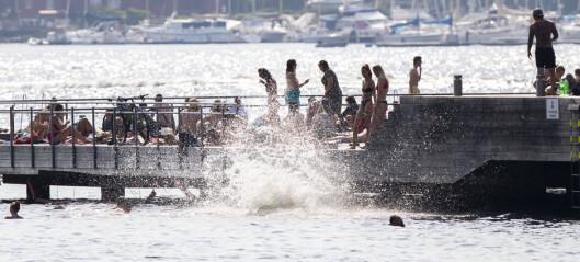 Gjett hvor varmt gjennomsnittlig badevann har vært i innerste oslofjord i juli