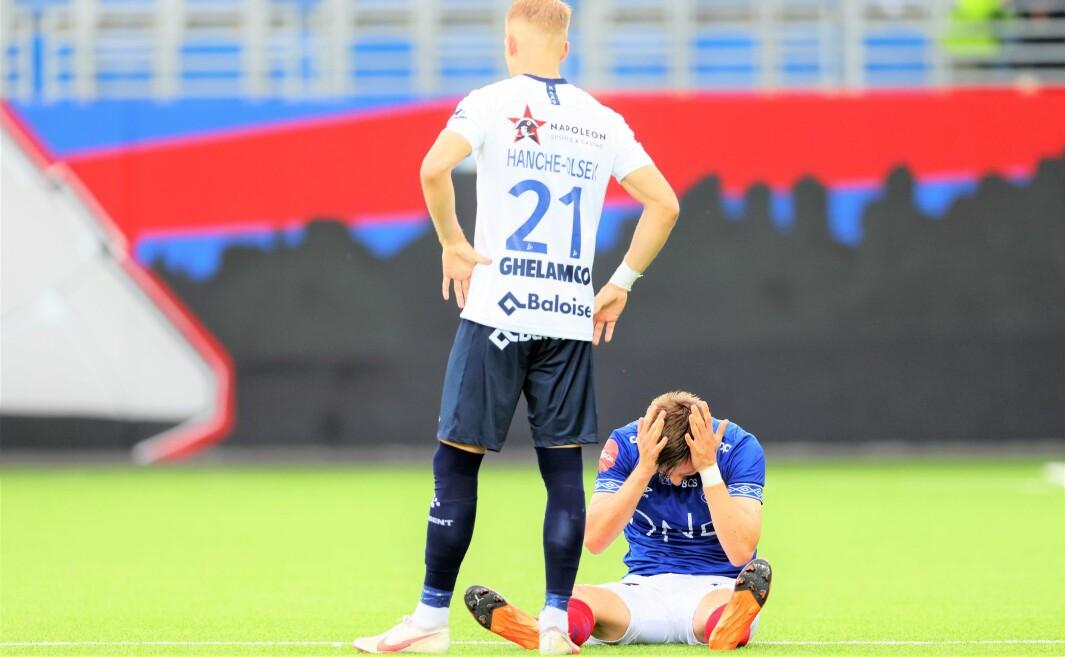 Ivan Näsberg og de andre Vålerenga-spillerne drømte om å komme videre i Conference League. Den drømmen brast til tross for kveldens 2-0 seier hjemme over belgiske Gent.
