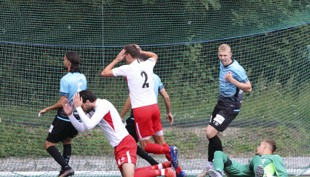 Ullern var nær ved flere anledninger i den første omgangen mot Vålerenga i cupen søndag.