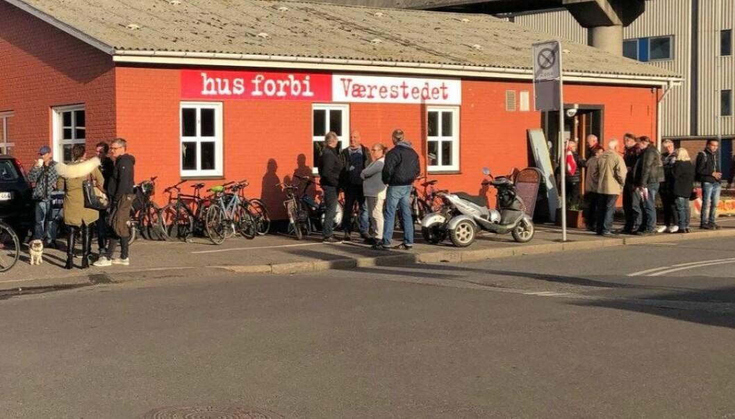 Værestedet i Nåleparken i Århus er modellen for deler av rusmiljøet i Oslo.