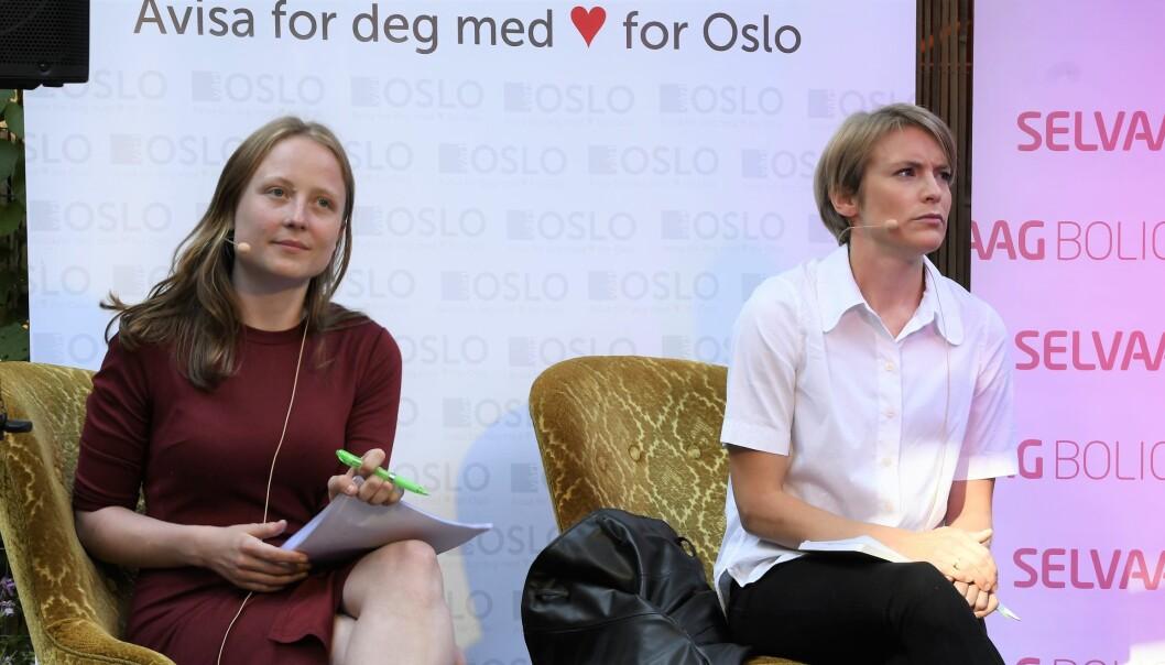 Arbeiderpartiets Agnes Nærland Viljugrein (t.v) og SVs Kari Elisabeth Kaski vil ha på plass en ny husleielov som taler leietakernes sak på en mye bedre måte enn i dag.