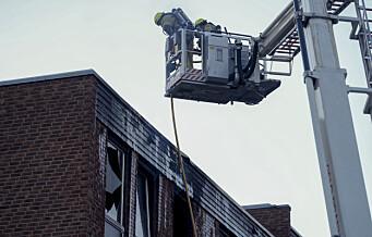 Brann i boligblokk på Linderud