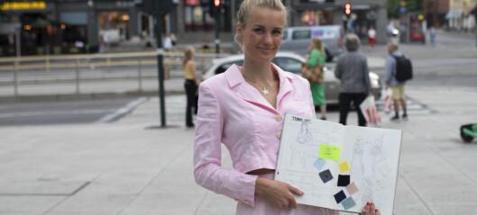 Mariken (21) fra Fagerborg fant en symaskin på loftet og sydde sin egen kjole. Nå har hun lansert sitt eget klesmerke