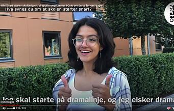 iiiik! Snart starter skolen igjen. Vi spurte ungdommer i Oslo om deres forventninger. Se videoen