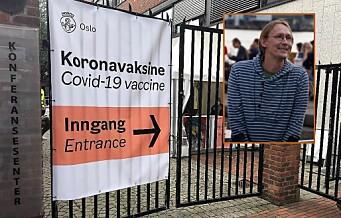 – Vaksinesenteret til bydel Grünerløkka er ikke i nærheten av å være tilgjengelig for bevegelseshemmede