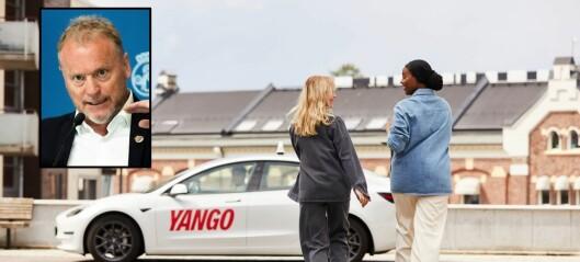Raymond Johansen vil stanse godkjenning av nye drosjeløyver i Oslo. Bekymret