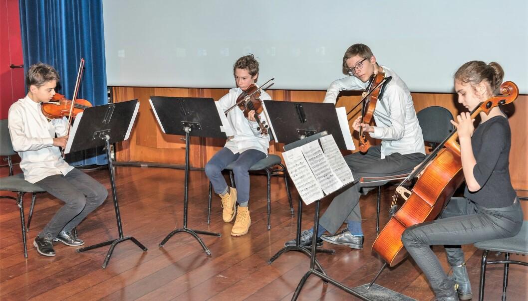 Strykejernet kvartett kommer fra Oslo Musikk- og kulturskole.