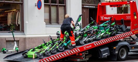 Sjekk storfangsten i Skippergata! Nå må utleier punge ut titalls tusen for de feilparkerte elsparkesyklene