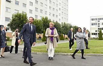 Kronprins Haakon på Stovner-besøk