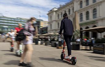 Ny norsk analyse: Elsparkesykler er 5–7 ganger farligere enn sykkel