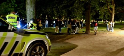 Fyll og bråk i Frognerparken: - Mye beruset ungdom og mange av dem er veldig unge, meldte politiet