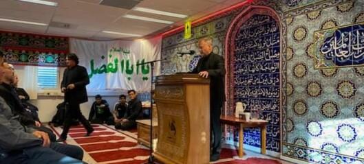 Raymond Johansen i afghansk moské på Kalbakken: - Tusenvis av afghanere i Oslo. De frykter for familien sin i hjemlandet
