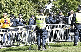 Sju personer pågrepet av politiet under SIAN-markering på Kontraskjæret