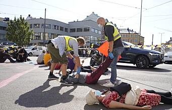 Aksjonister fra Extinction Rebellion sperrer ring 2 ved Majorstuen. – Tullinger og ekstremister