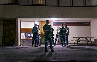 To menn skutt på Trosterud. Så tre personer løpe bort