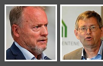 Raymond Johansen: – Boligbyggerne ønsker ikke lavere boligpriser. Per Jæger: – Stemmer ikke