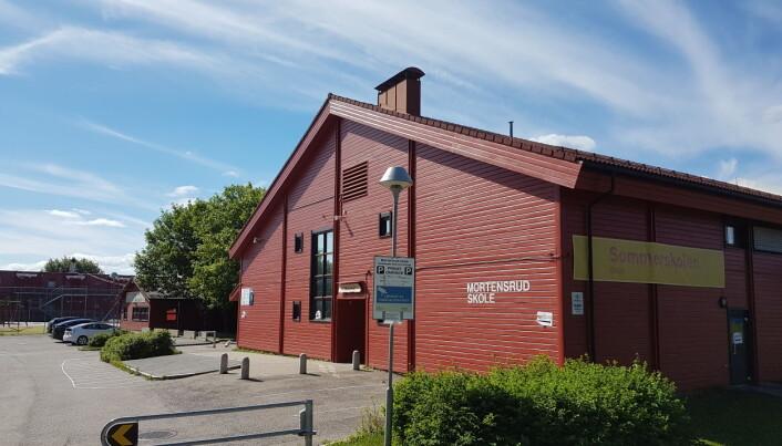 Mortensrud skole og gymsalene der er planlagt revet. Ny skole kommer syd for senter syd, men den får ingen gymsal.