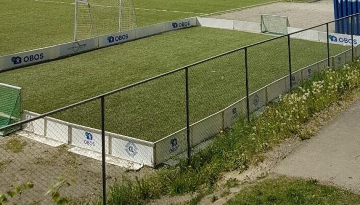 3er-banen som skal fjernes uten å erstattes ved Mortensrud idrettspark.