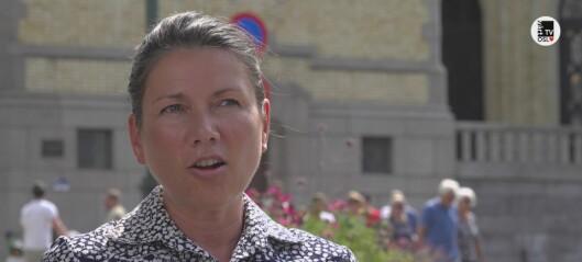 Heidi Nordby Lunde (H): – Vi trenger et levende bysentrum. Da må vi lage en plan for utviklingen av butikkene i Oslo sentrum. Se videoen