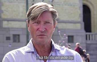 Christian Tybring Gjedde (Frp): – Sykkelveiene må bygges der folk ønsker dem lokalt, ikke der de skal synes mest mulig. Se videoen