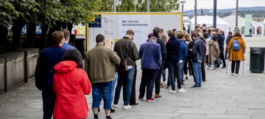 Bortreist på valgdagene eller folkeregistrert utenfor Oslo? Siste uka for forhåndsstemming