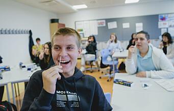Skoleungdom i Oslo i full gang med å koronateste seg selv
