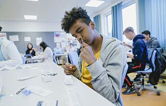 Oslo-helsebyråd mener tidligere massetesting i skolen kunne bremset smitteøkning