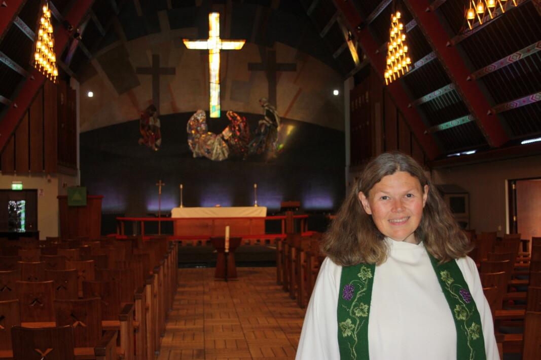 Sokneprest Hanne Kleveland gleder seg over å igjen kunne invitere soknebarn i menigheten til en totalrenovert Torshov kirke, nyåpnet nå på sensommeren og med aktiviteter utover høsten.