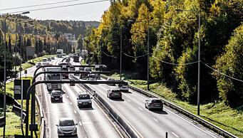 Trafikken inn til byen omtrent på samme nivå som før korona