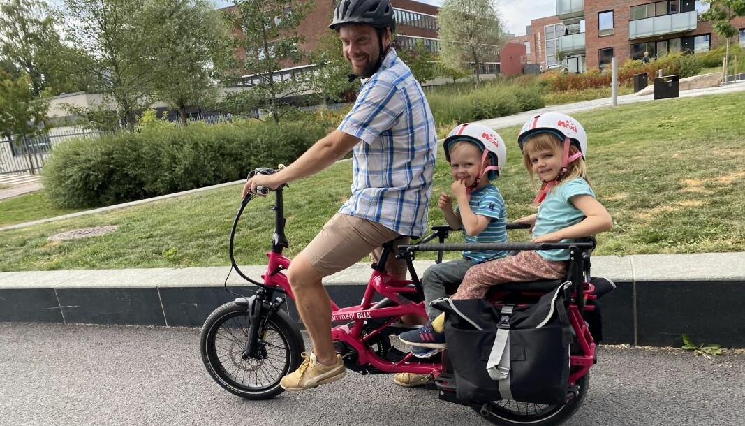 El-lastesyklene passer perfekt for småbarnsfamilier.