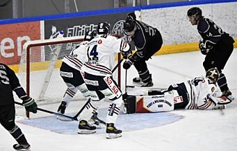 Sesongens først ishockeykamp for Grüner. Oppløftende innsats