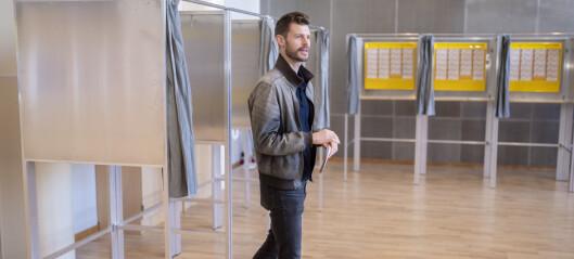 Moxnes (Rødt) avla stemme på Nordstrand skole: – Det kan bli veldig jevnt