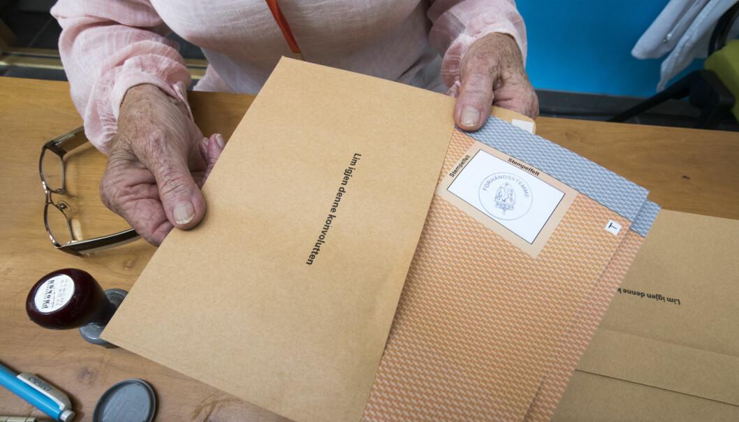 174 personer i koronakarantene har stemt hjemmefra i Oslo.