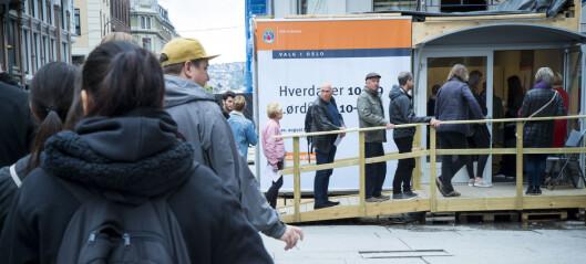 Rekordmange forhåndsstemmer i Oslo