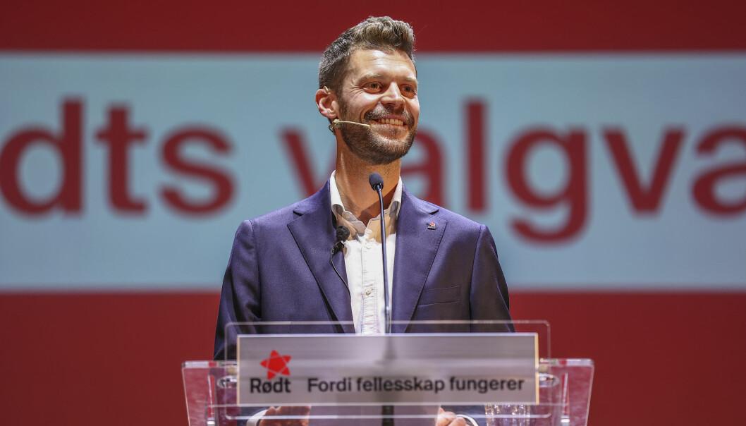 – Dette valget skal markere slutten på nyliberalismen, sier Rødt-leder Bjørnar Moxnes.