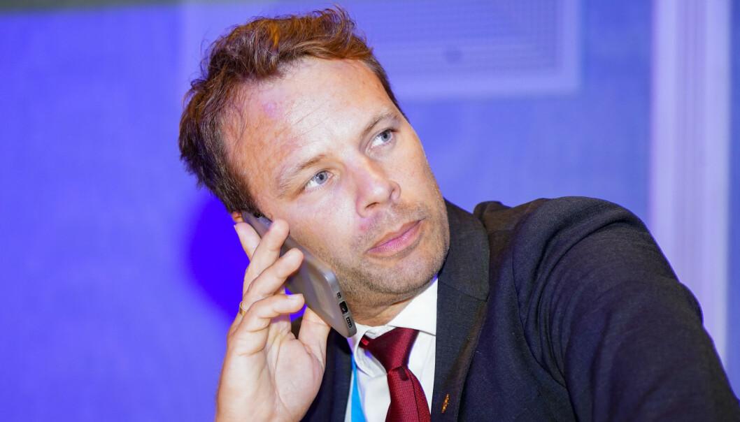 Oslo 20210913. Jon Helgheim på Fremskrittspartiets valgvake på Bristol  ved stortingsvalget 2021.Foto: Terje Pedersen / NTB