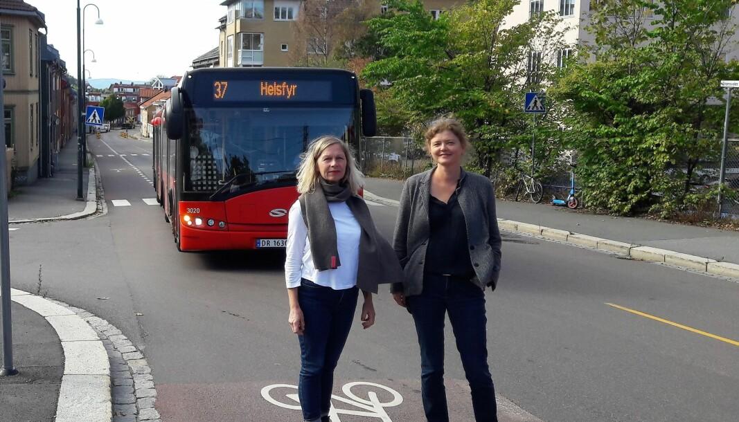 Anette Eggan Laskemoen og Hege Stensrud Høsøien fra Gamlebyen beboerforening og Vålerenga vel krever at Ruter oppretter et direkte kollektivtilbud til Sentrum