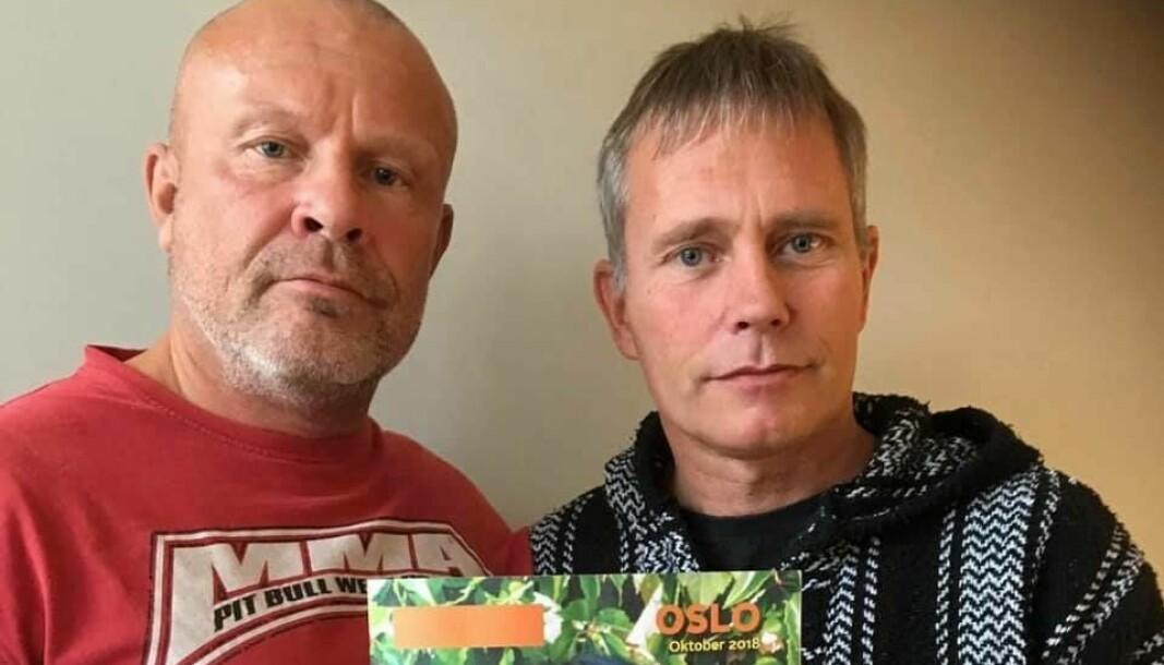 Arild Knutsen (t.h) sier han har Sverre Eika å takke for at han lever i dag.